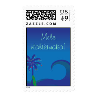 Hawaiian Surf Christmas Stamp