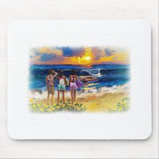 Hawaiian Surf Girls Mouse Pad