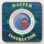 Hawaiian Surf School Master Instructor Drink Coaster