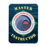 Hawaiian Surf School Master Instructor Vinyl Magnet