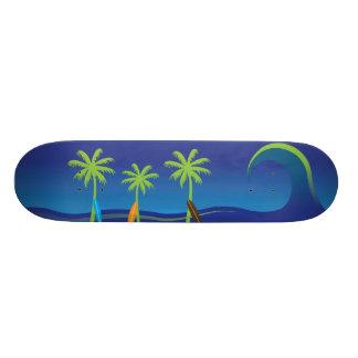 Hawaiian Surf Skateboard