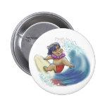 Hawaiian surfer button