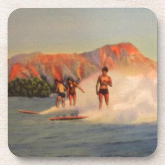 Hawaiian Surfer Gifts Beverage Coaster