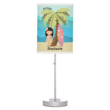 Hawaiian Surfer Girl Desk Lamp