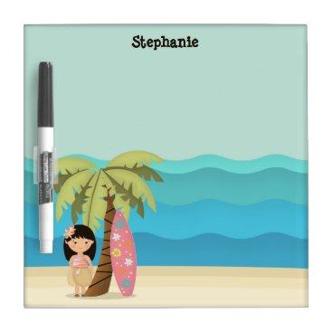 Hawaiian Surfer Girl Dry-Erase Board