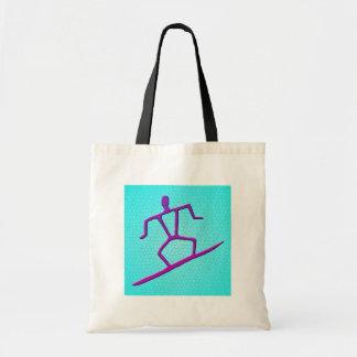 Hawaiian Surfer Petroglyph Bag