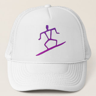 Hawaiian Surfer Petroglyph Hat