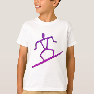 Hawaiian Surfer Petroglyph Kid's T-Shirt