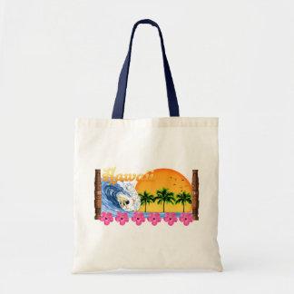 Hawaiian Surfing Tote Bags