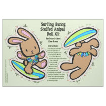 Hawaiian Surfing Bunny Doll Kit & Stuffed Animal Fabric
