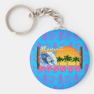 Hawaiian Surfing Keychain