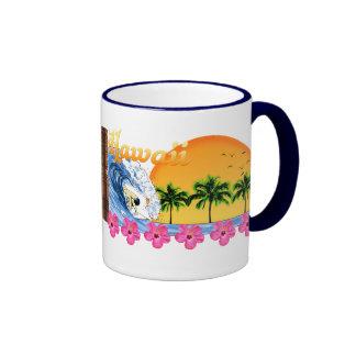 Hawaiian Surfing Ringer Mug