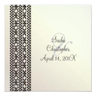 Hawaiian Tattoo Party Invitation/black + white Card