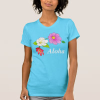 Hawaiian Tee Shirts for Women Customizable