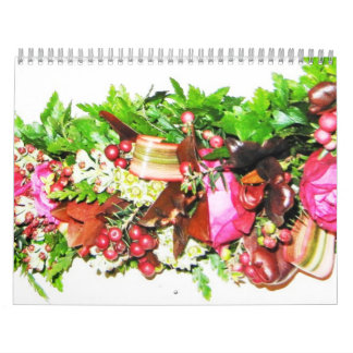 Hawaiian Themed Lei Calendar from May 2012 to Apri