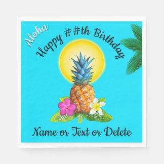 Hawaiian Themed Party Ideas, Personalized Napkins