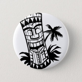 HAWAIIAN TIKI BAR ART PINBACK BUTTON