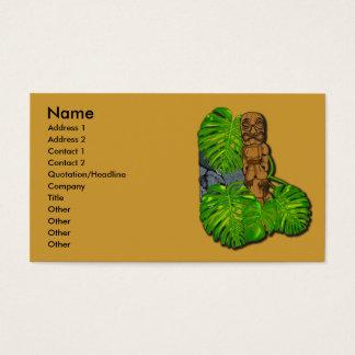 Hawaiian Tiki Business Cards