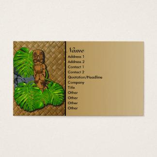 Hawaiian Tiki Business Cards 2