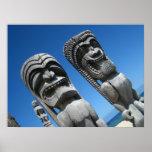 Hawaiian Tiki Gods Poster
