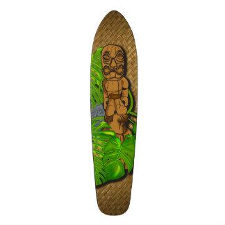 Hawaiian Tiki Lauhala Skateboard