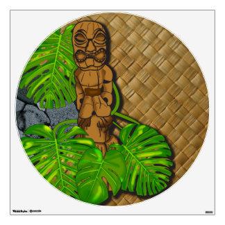 Hawaiian Tiki Lauhala Wall Decal
