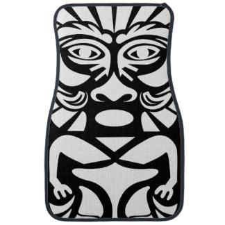 Hawaiian Tiki Mask Car Mat