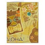 Hawaiian Tiki Mask Cards