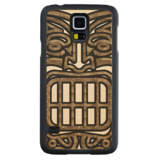 Hawaiian Tiki Mask Carved Maple Galaxy S5 Slim Case