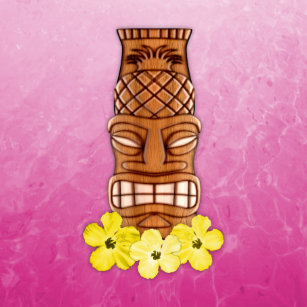 hawaiian tiki masks stickers zazzle