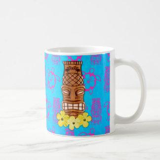 Hawaiian Tiki Mask Classic White Coffee Mug