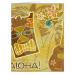 Hawaiian Tiki Mask Large Greeting Card