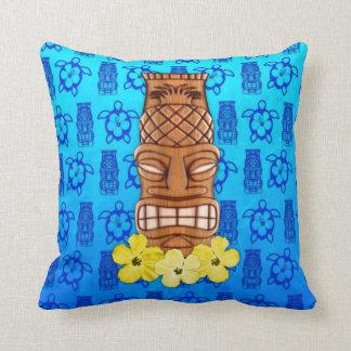 Hawaiian Tiki Mask Throw Pillow