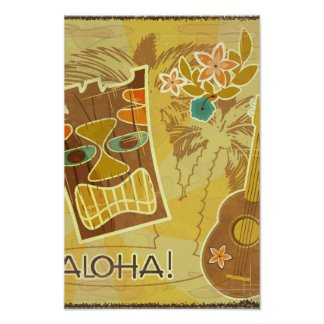 Hawaiian Tiki Mask Poster