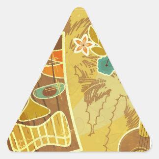 Hawaiian Tiki Mask Triangle Sticker
