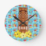 Hawaiian Tiki Mask Wall Clock
