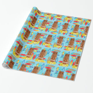 Hawaiian Tiki Mask Wrapping Paper
