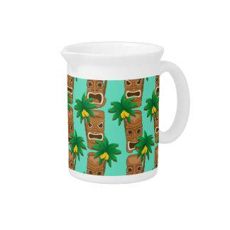 Hawaiian Tiki Repeat Pattern Drink Pitcher
