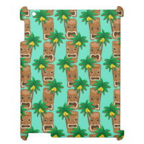 Hawaiian Tiki Repeat Pattern iPad Case