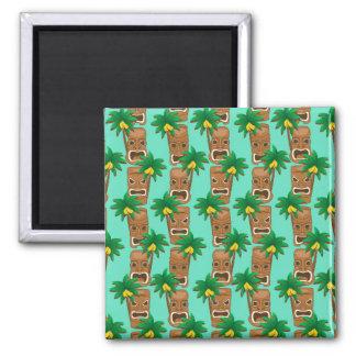 Hawaiian Tiki Repeat Pattern Magnet