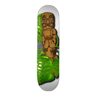 Hawaiian Tiki Skateboard