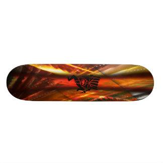 Hawaiian Tiki Skateboard Design