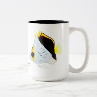 Hawaiian Tinker's Butterflyfish Two-Tone Coffee Mug