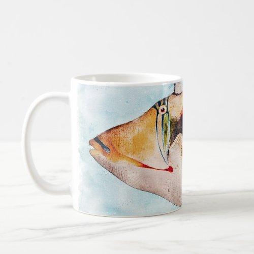Hawaiian Triggerfish Fish Watercolor Coffee Mug