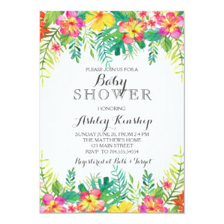 hawaiian baby shower invitations announcements zazzle