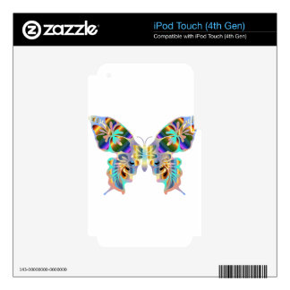 HAWAIIAN TROPICAL BUTTERFLY iPod TOUCH 4G DECAL