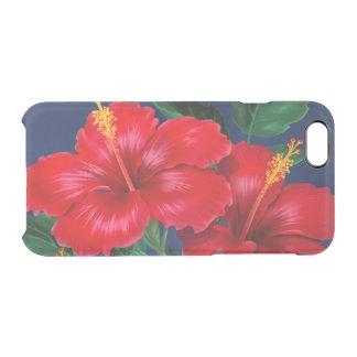 Hawaiian tropical del hibisco del paraíso funda clearly™ deflector para iPhone 6 de uncommon