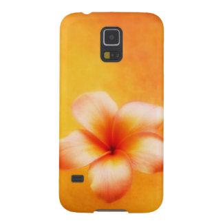 Hawaiian tropical del Plumeria del amarillo Carcasa Galaxy S5