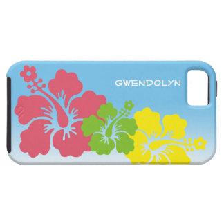 Hawaiian tropical del trío del flor de las flores iPhone 5 carcasa