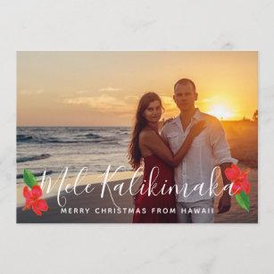 hawaiian tropical hibiscus palm christmas photo holiday card - How Do You Say Merry Christmas In Hawaiian